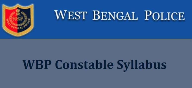 WBP Constable Syllabus