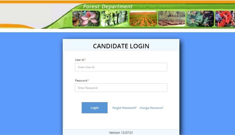 Delhi Forest Guard Admit Card 2021 Candidate Login