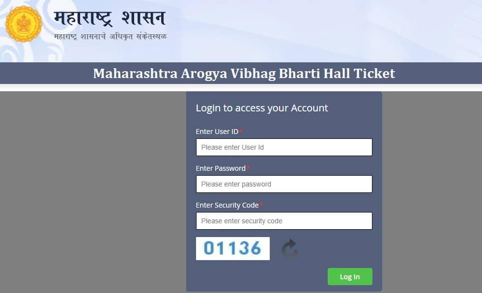 Maharashtra Arogya Vibhag Bharti Hall Ticket