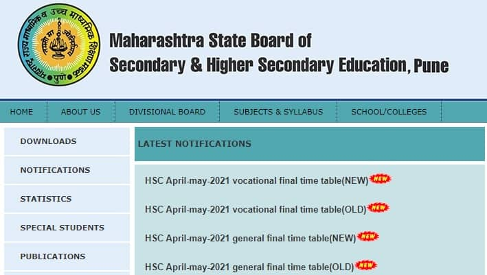 Maharashtra HSC Time Table 2021 Final* (PDF Out) Download ...