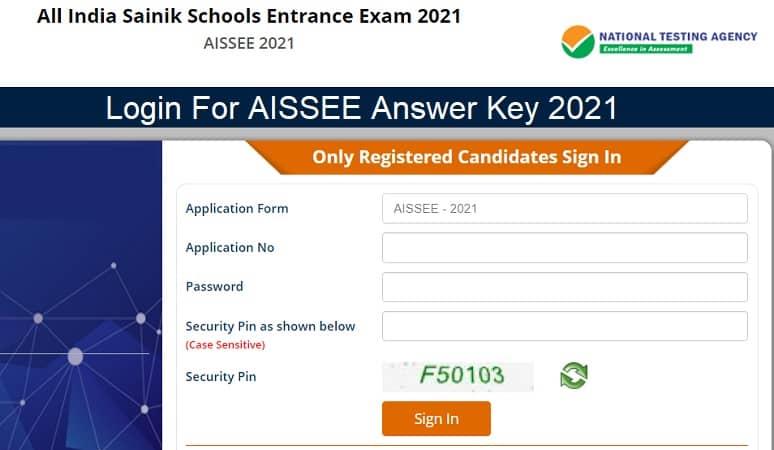 AISSEE Answer Key 2021