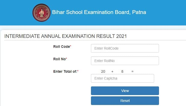 onlinebseb.in 12th Result 2021 Check Roll Number Roll Code