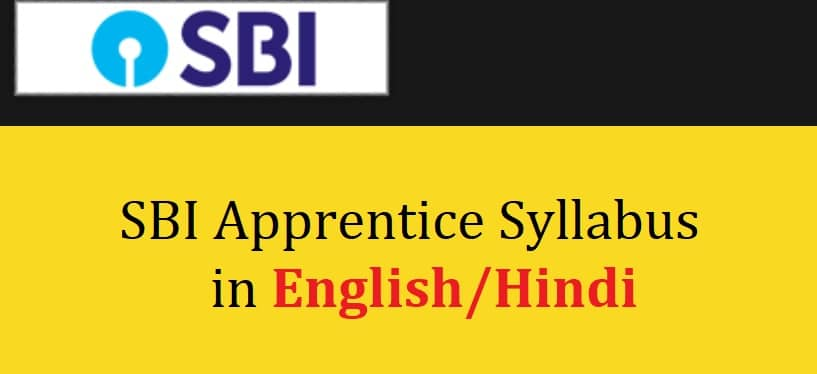 SBI Apprentice Syllabus 2021 in Hindi English