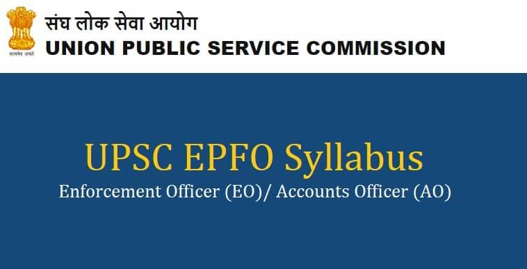 UPSC EPFO Syllabus