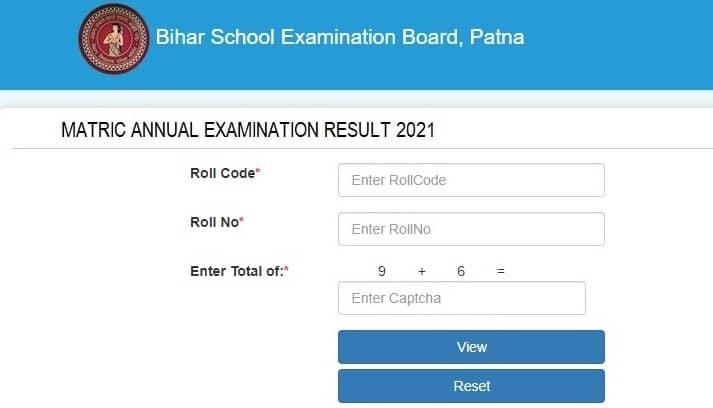 onlinebseb.in 10th result 2021 results.biharboardonline.com Check Link