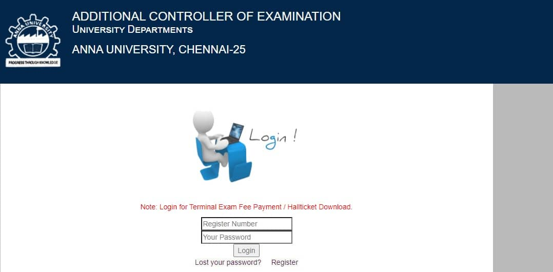 Anna University Re-Exam Hall Ticket 2021