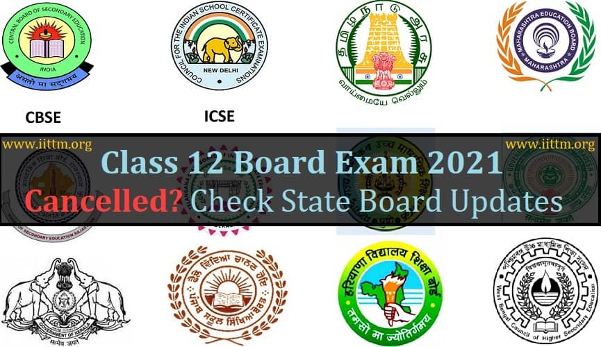Class 12 Board Exam 2021 Cancelled