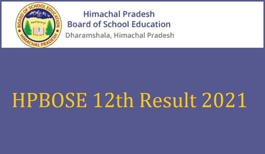 HPBOSE 12th Result 2021