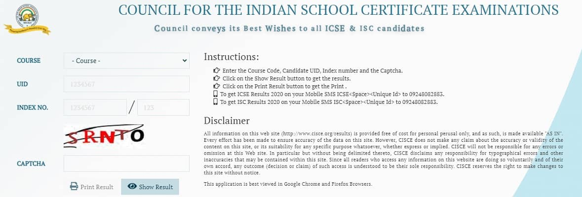 ISC Result 2021 www.cisce.org Class 12th