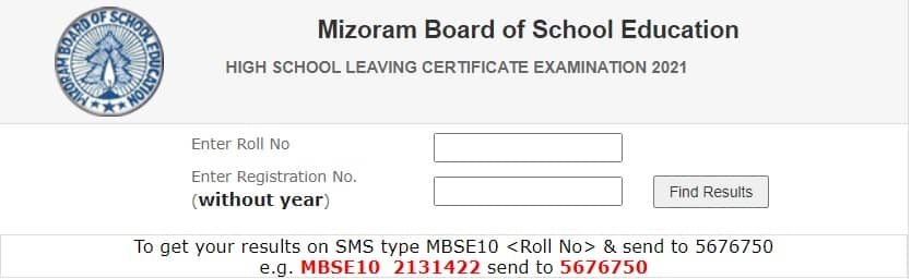 MBSE HSLC Result 2021 Mizoram
