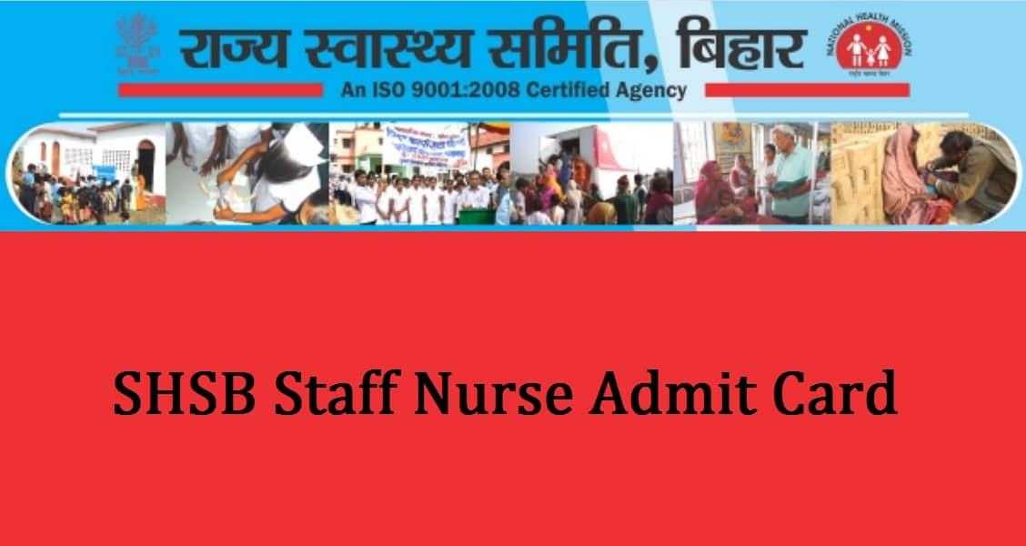 SHSB Staff Nurse Admit Card