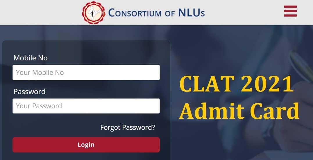 CLAT 2021 Admit Card