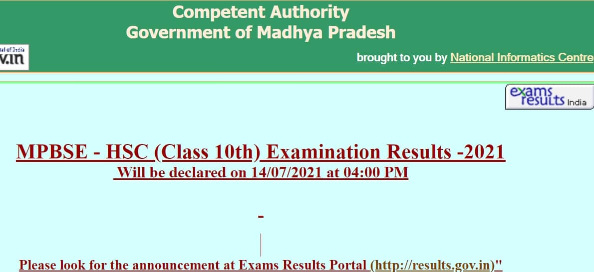 MPBSE 10th Result mpbse.nic.in
