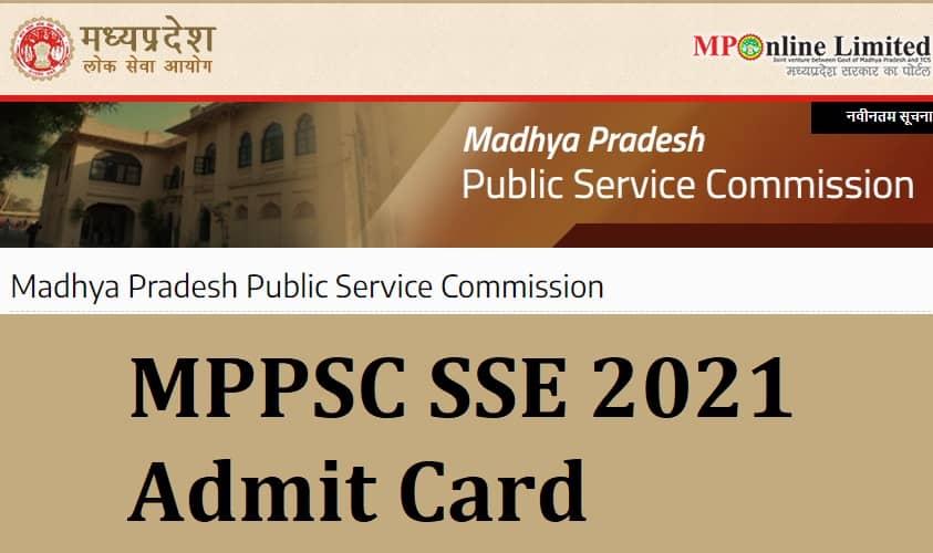 MPPSC SSE 2021 Admit Card