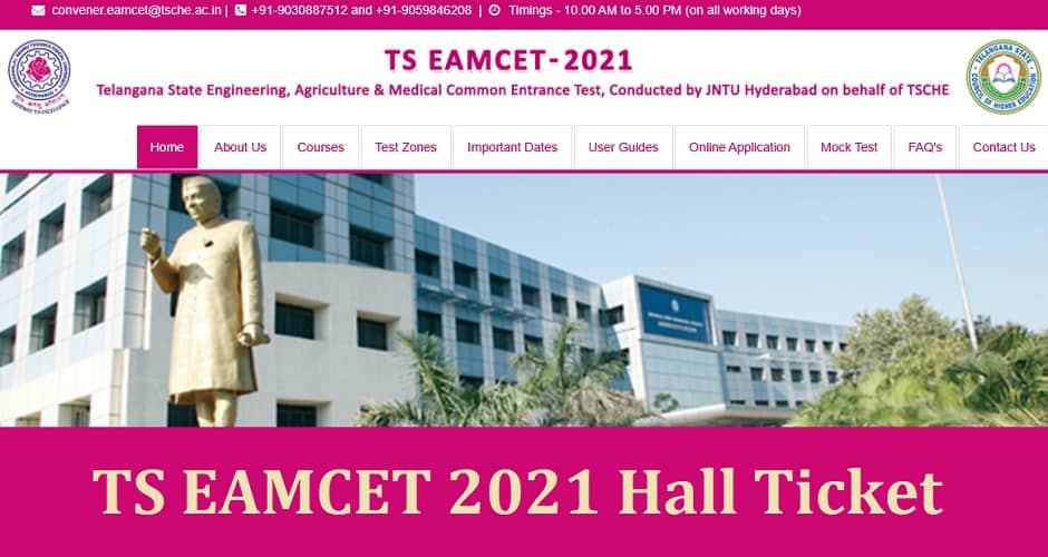 TS EAMCET 2021 Hall Ticket