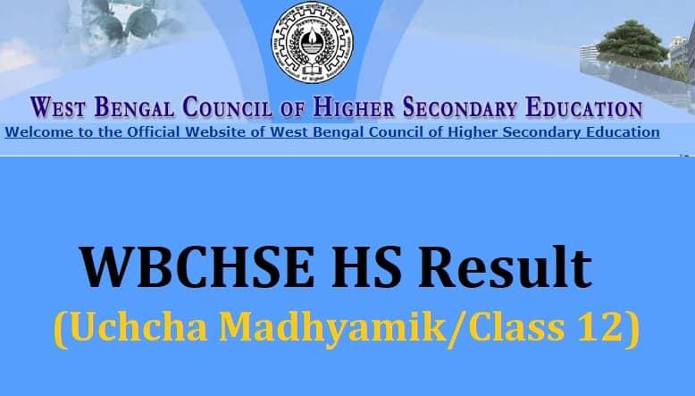 WBchse.nic.in result class 12 hs uchcha madhyamik