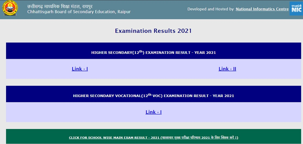 cgbse.nic.in 12th result