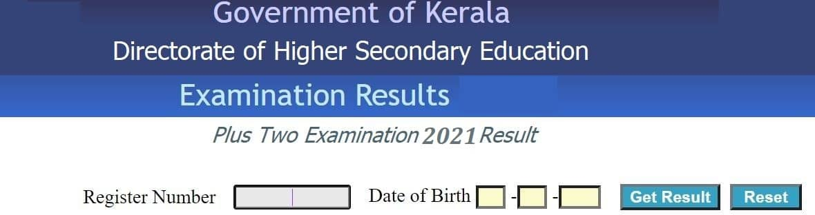 keralaresults.nic.in 2021 Plus two Result school wise