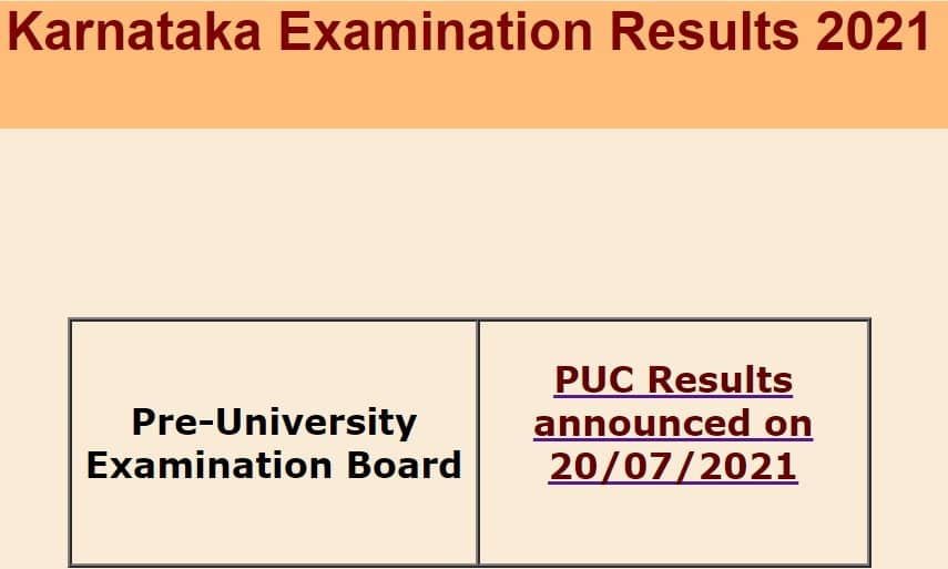 pue.kar.nic.in karresults.nic.in 2nd puc results