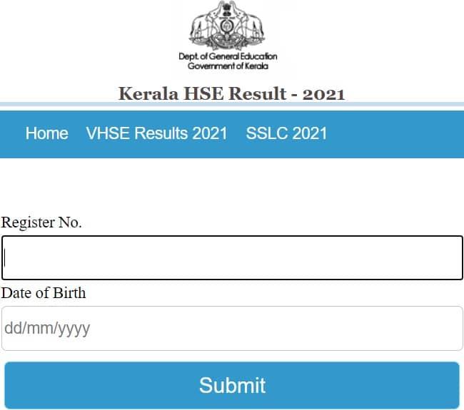 results.kitekerala.gov.in 2021 HSE Plus Two VHSE Result