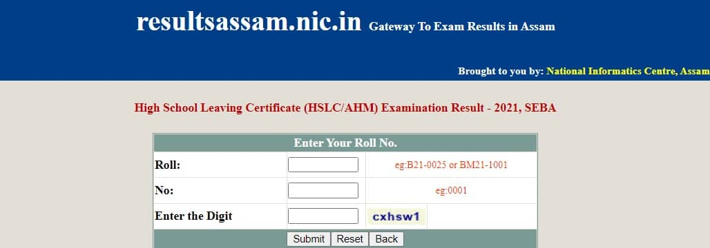 resultsassam.nic.in 2021 hslc class 10 out