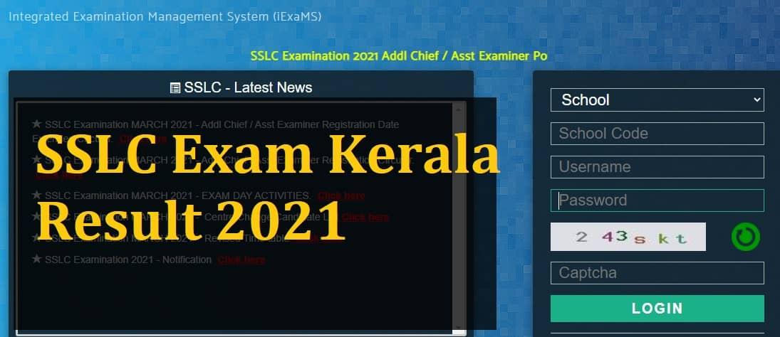 sslcexam.kerala.gov.in 2021 result