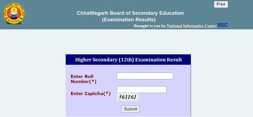 www.CGBSE.nic.in 12th Result 2021