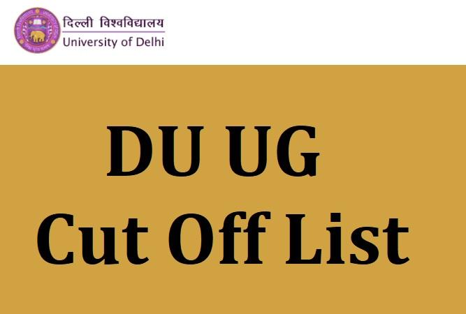DU Cut off List UG