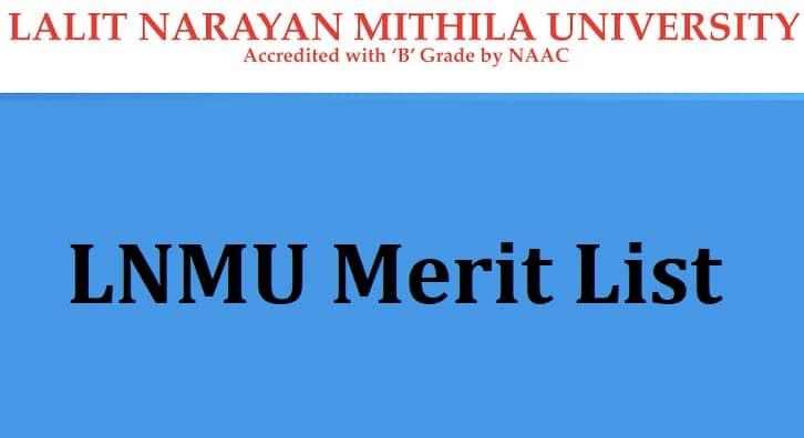 LNMU Merit List
