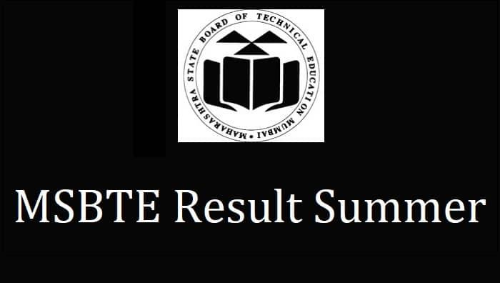 MSBTE Result Summer