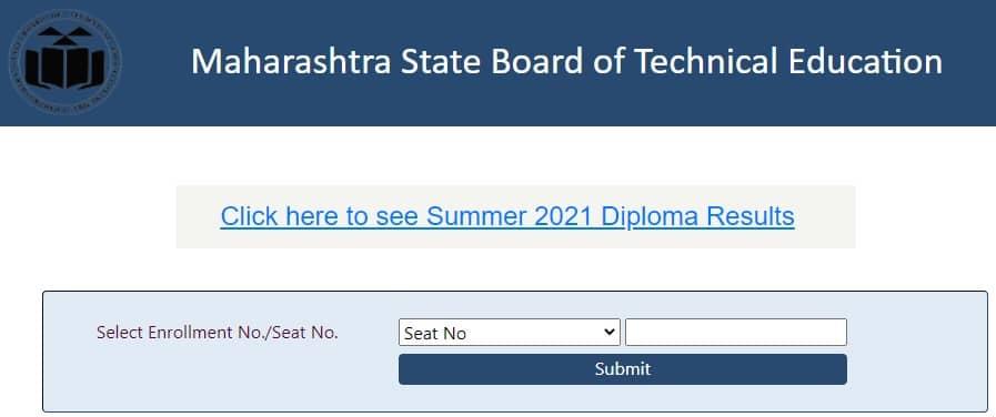 MSBTE.org.in Result Summer 2021 Diploma