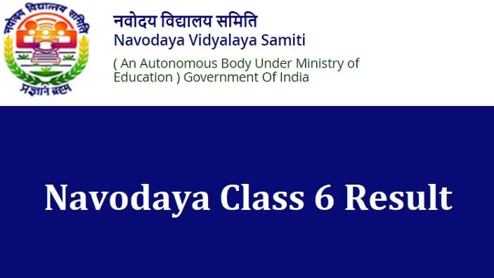 Navodaya Class 6 Result
