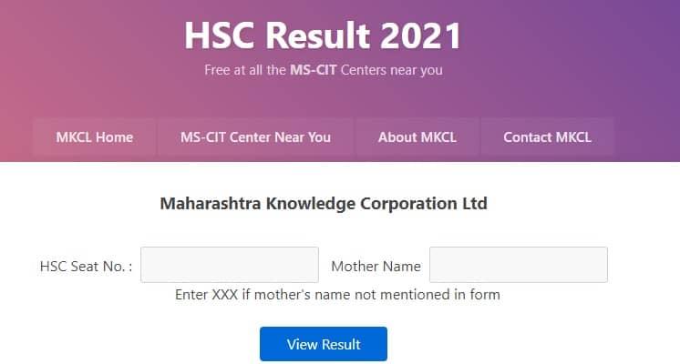 hscresult.mkcl.org 2021 hsc result