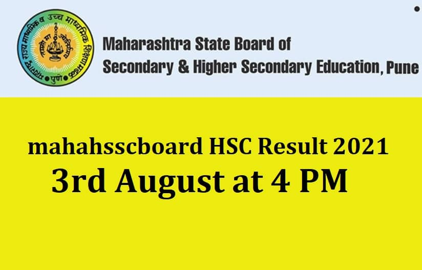 mahahsscboard HSC Result 2021 AUGUST 3 4 PM