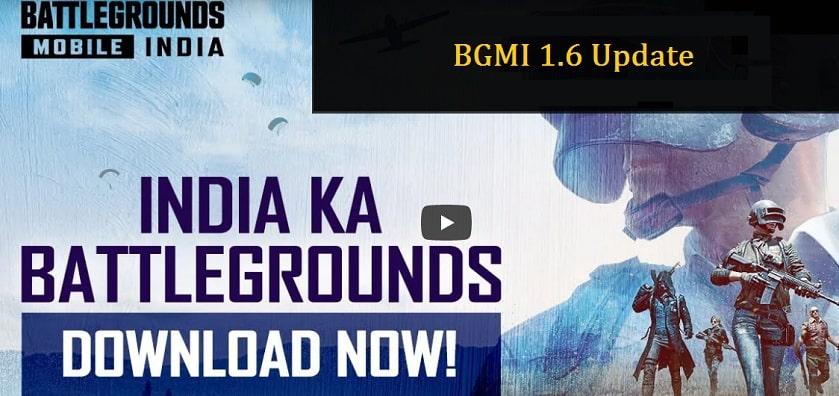 BGMI 1.6 Update