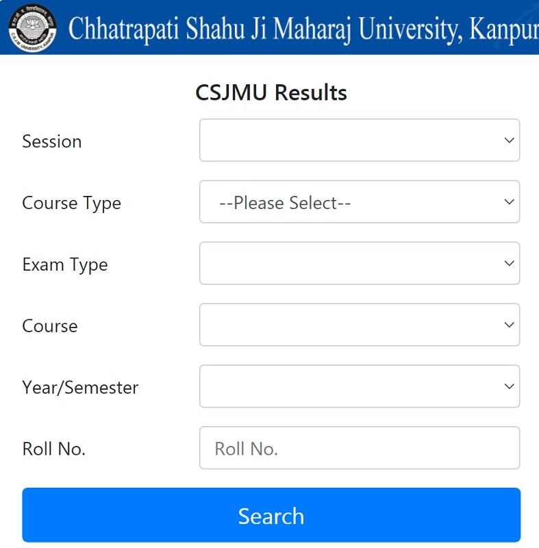 CSJMU Results Download