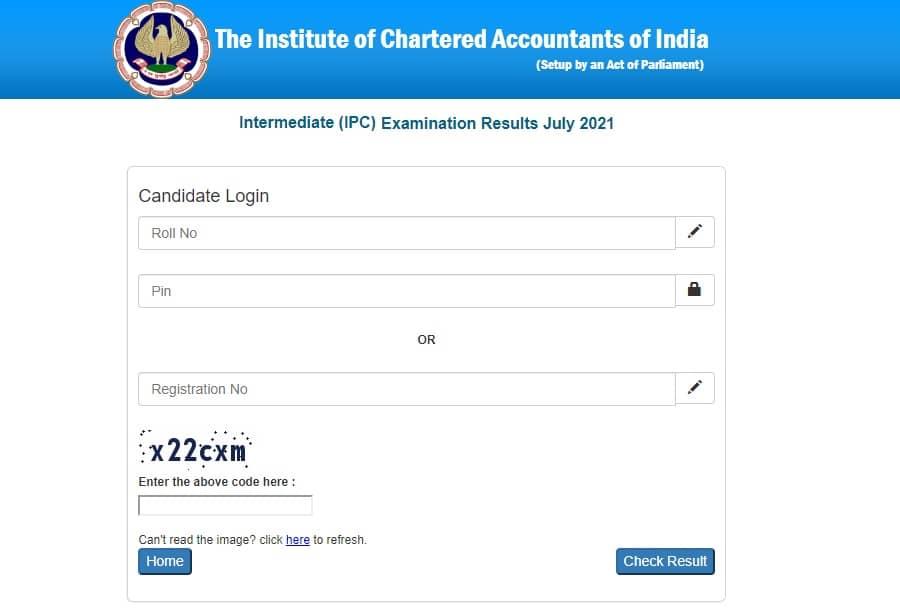 ICAI CA Inter Result July 2021