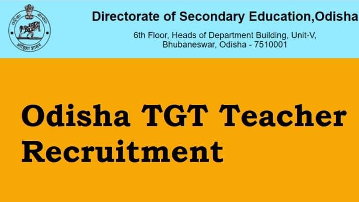 Odisha TGT Teacher Recruitment