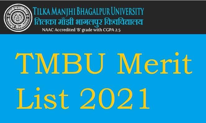 TMBU Merit List 2021