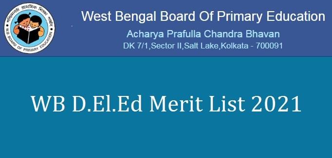 WB DELED Merit List 2021-min