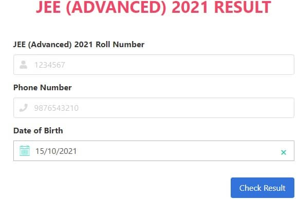 JEE (Advanced) 2021 Result