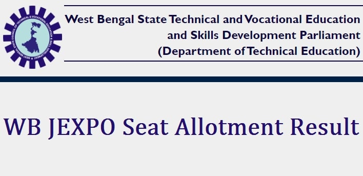 WB JEXPO Seat Allotment Result 2021