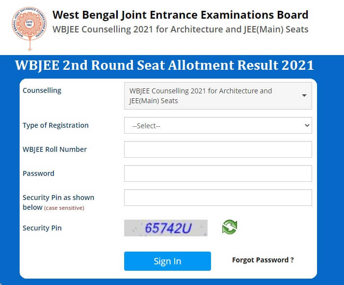 WBJEE 2nd Round Seat Allotment Result 2021